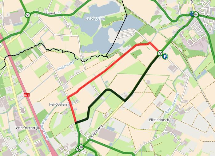 Routewijziging Horst