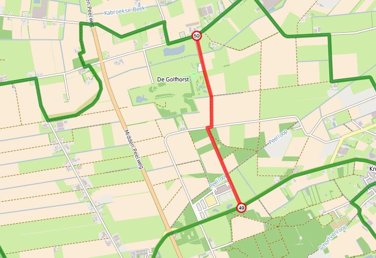 Routewijziging Kronenberg