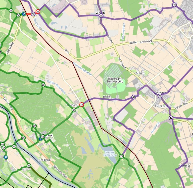 Routewijziging Wellerlooi - Kreis Kleve
