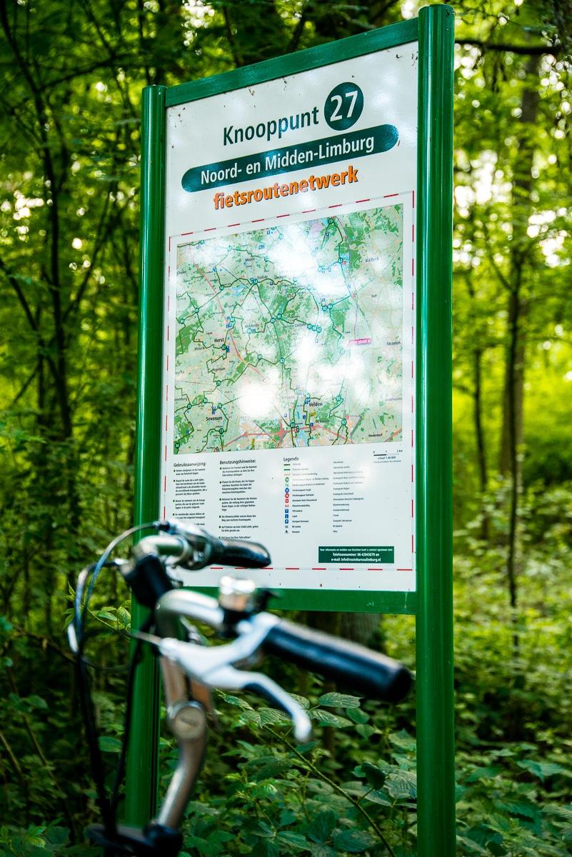 Gebruikers fietsknooppunten in Noord- en Midden-Limburg zeer tevreden over fietsroutenetwerk