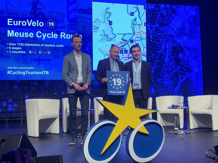 Internationale Maasfietsroute officieel EuroVelo route