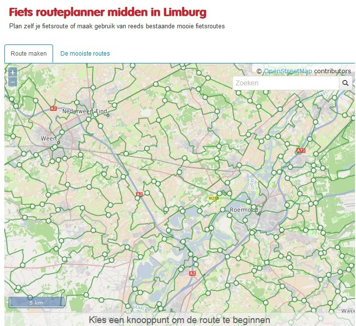 Routeplanner Midden - Limburg online